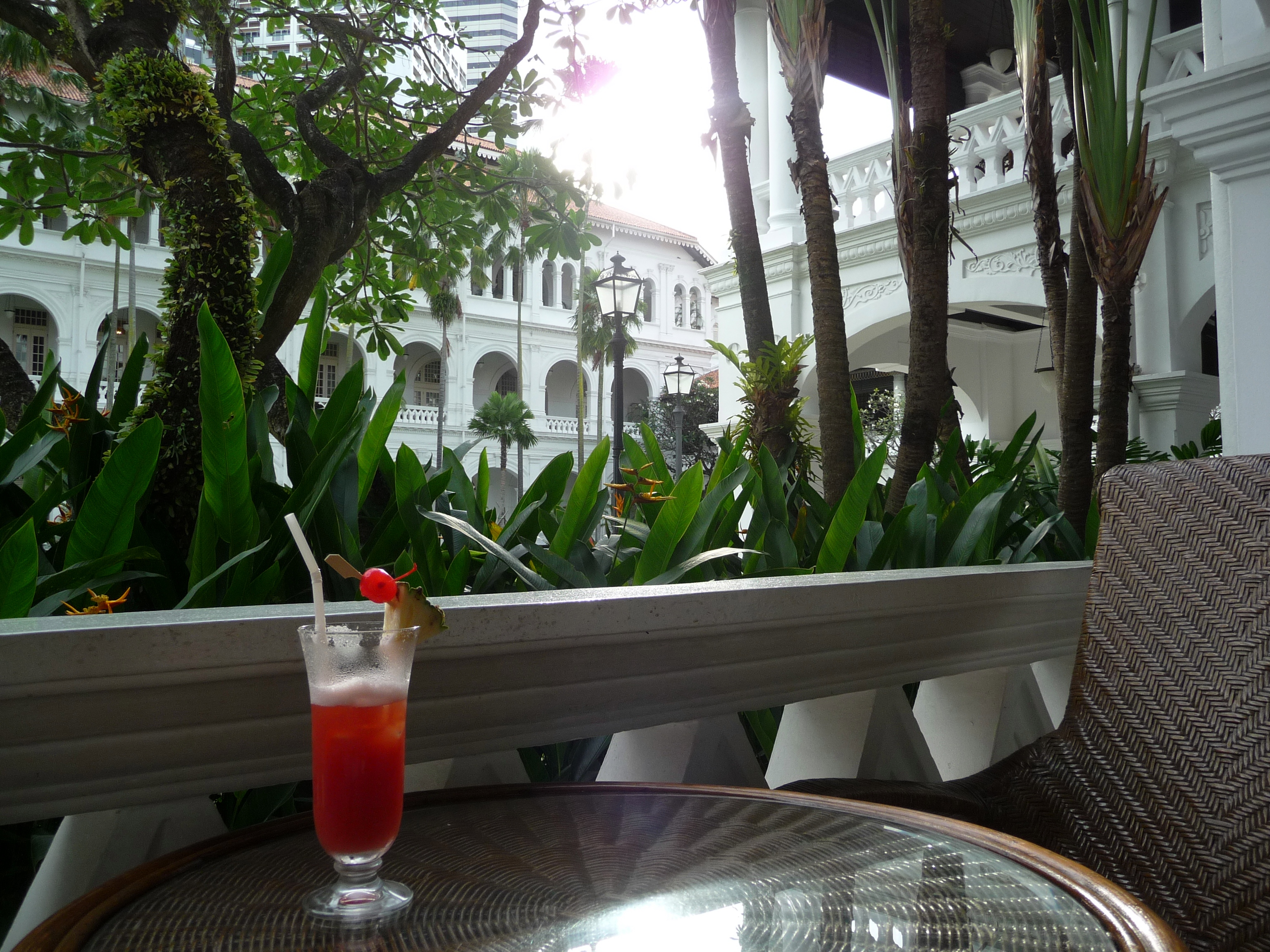 Drinking a Singapore Sling in Singapore