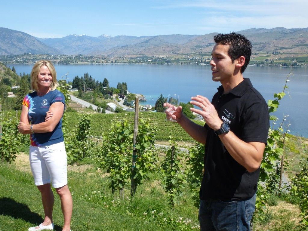 Karma owner Julie Pittsinger and winemaker Craig Mitrakul