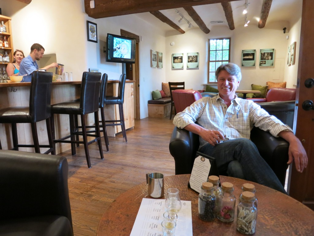 Colin Keegan in his downtown Santa Fe tasting room