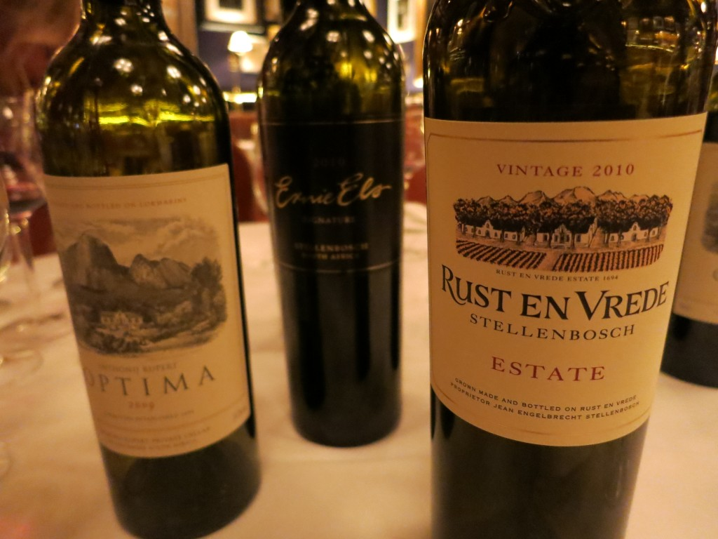 Three South African Bordeaux Blends