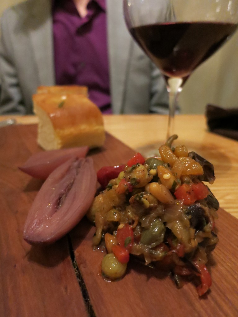 Caponata and pickled onions