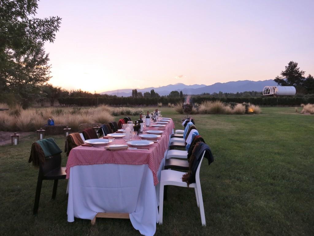 Sunday asado in Mendoza