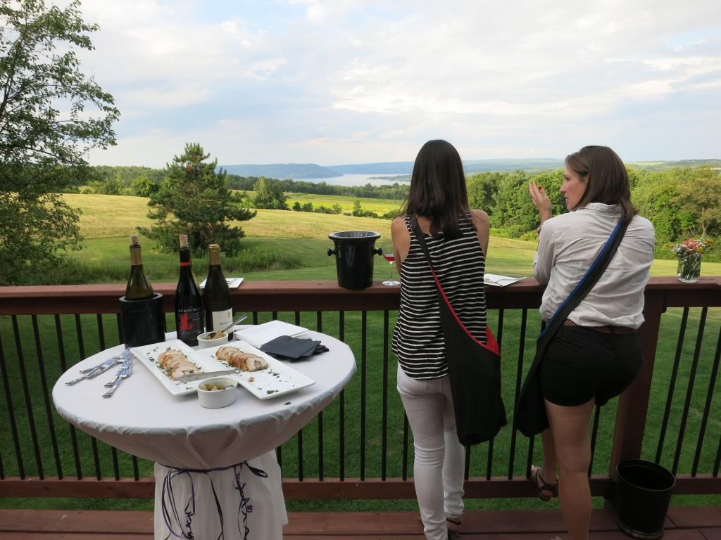 The terrace of the Manor House overlooking Keuka Lake