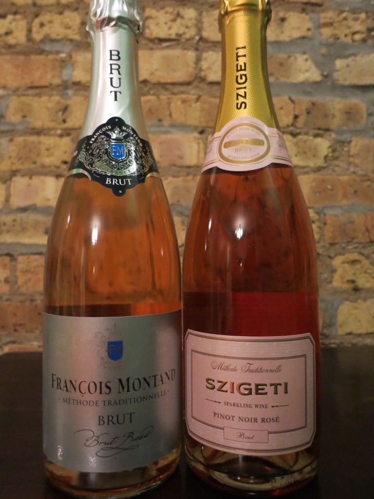 Francois Montand Brut Rose and Szigeti Pinot Noir Rose