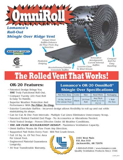 Shingle Ridge Vent With Proven Performance