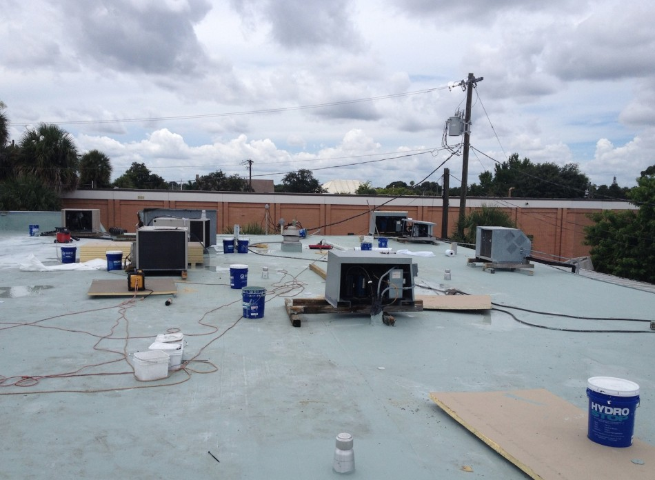 Commercial Roof With Quest PremiumCoat
