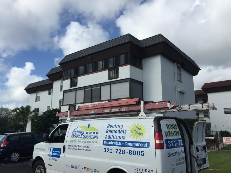 Condominium Mansard Roof Replaced