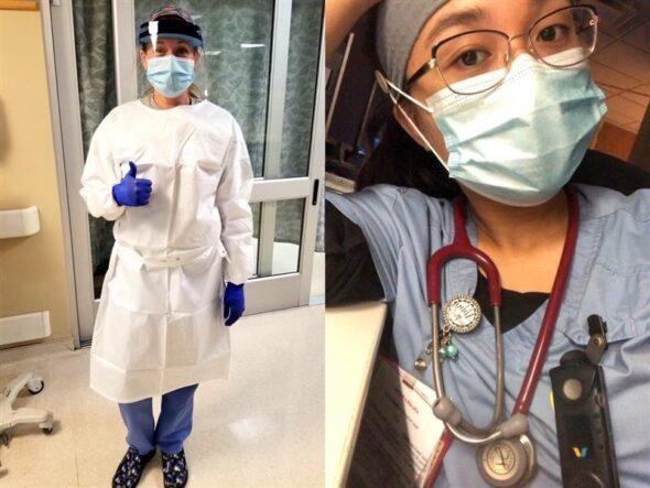 Nurses Beth and Abby