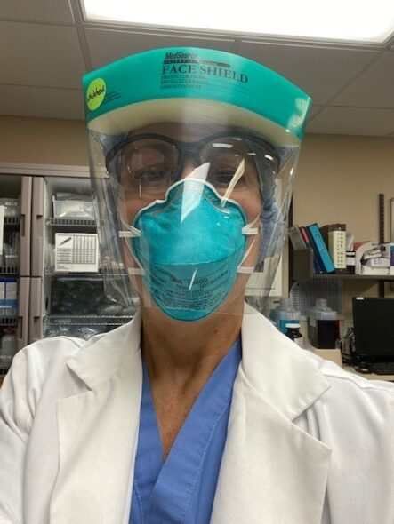 katherine whitehead in PPE