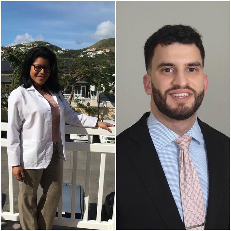 THIRD-YEAR MEDICAL STUDENTS KATHERINE FRANCIS AND RAMZI IBRAHIM FOUND A WAY TO ASSIST THEIR MENTORS OUTSIDE THE HOSPITAL WALLS