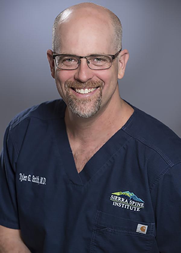 head shot of dr. tyler Smith of sierra spine institute in roseville california