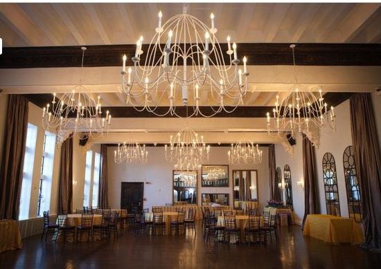 vintage ballroom castle wedding venue