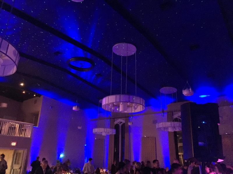 Starry Night Wedding Reception Lighting
