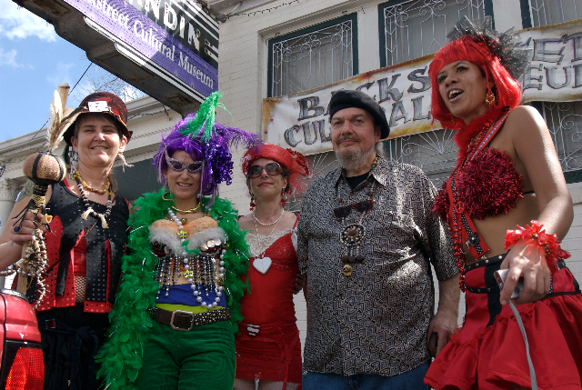 Dr. John with Mardi Gras Baby Dolls – 2008 (Photos: James Quine)