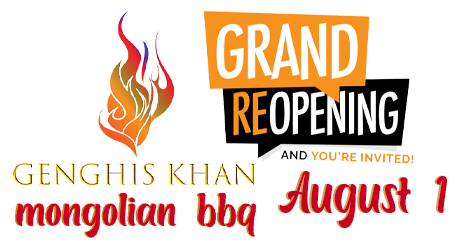 SCV Restaurants | Re-Opens Aug 1, 2020 | Genghis Khan Mongolian BBQ
