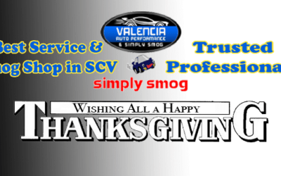 Valencia Auto Performance & Simply Smog  | Thanksgiving Wishes