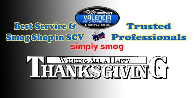 Valencia Auto Performance & Simply Smog  | Thanksgiving Wishes