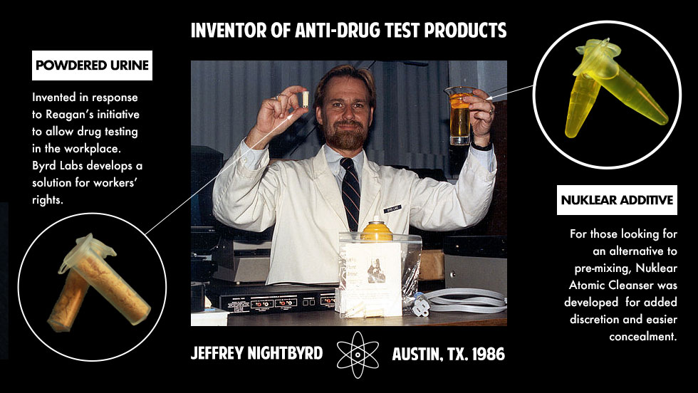 inventor of powdered urine and nuklear infographic