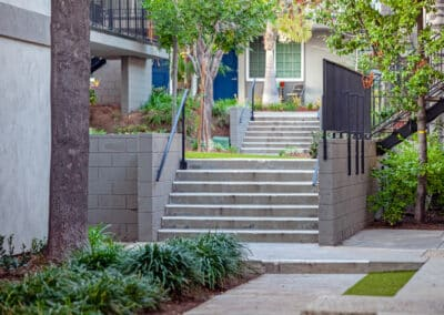 Summerwood apartments bricked stairs and landscaping