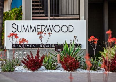 Summerwood apartment homes sign monument