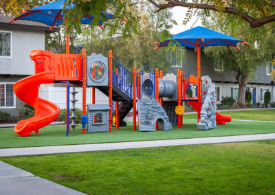 Colorful playground for kids in Yorba Linda Pines Apartments