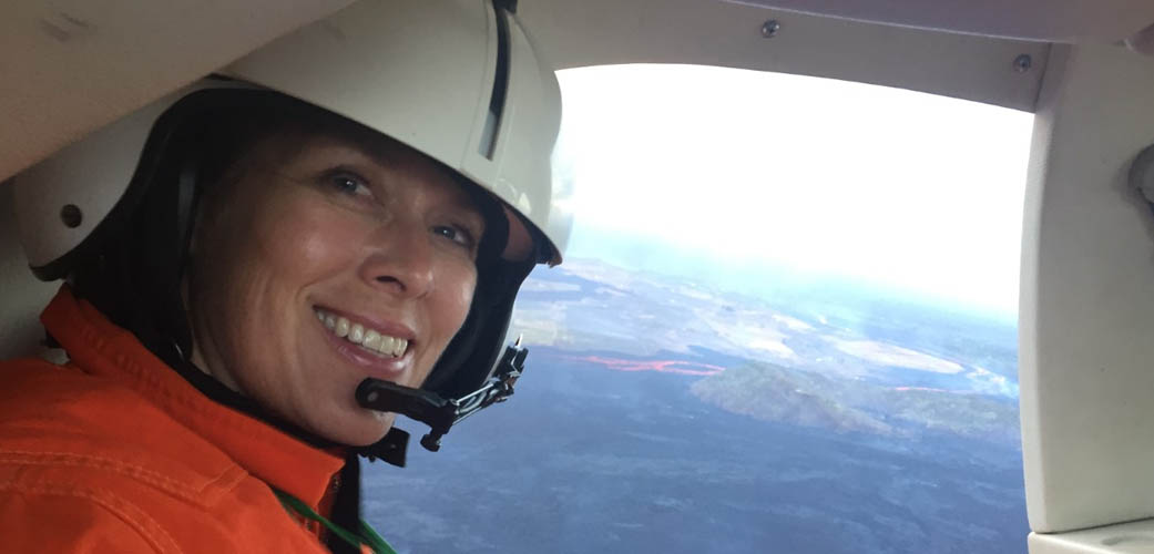 Dawnika Blatter in helicopter