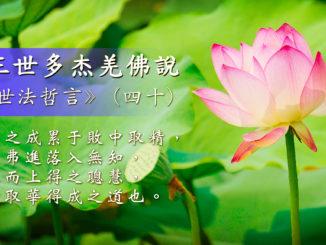 第三世多杰羌佛說《世法哲言》(四十)