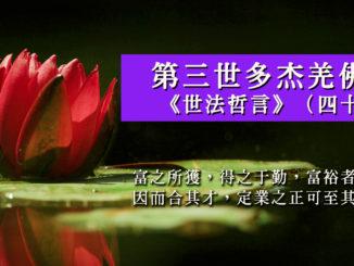 第三世多杰羌佛說《世法哲言》(四十二)
