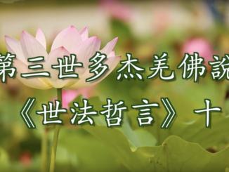 (視頻) 第三世多杰羌佛說《世法哲言》十