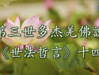 第三世多杰羌佛說《世法哲言》(十四)