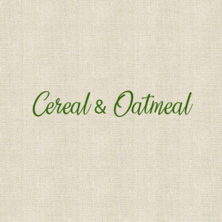 Cereal & Oatmeal