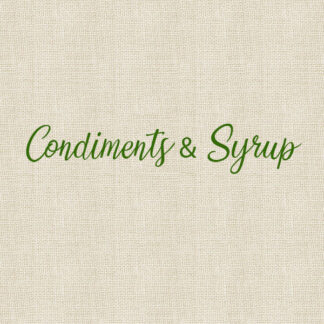 Condiments & Syrup