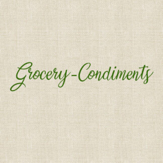 Grocery - Condiments