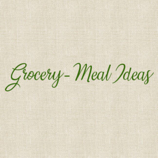 Grocery - Meal Ideas