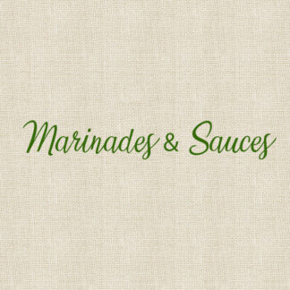 Marinades & Sauces