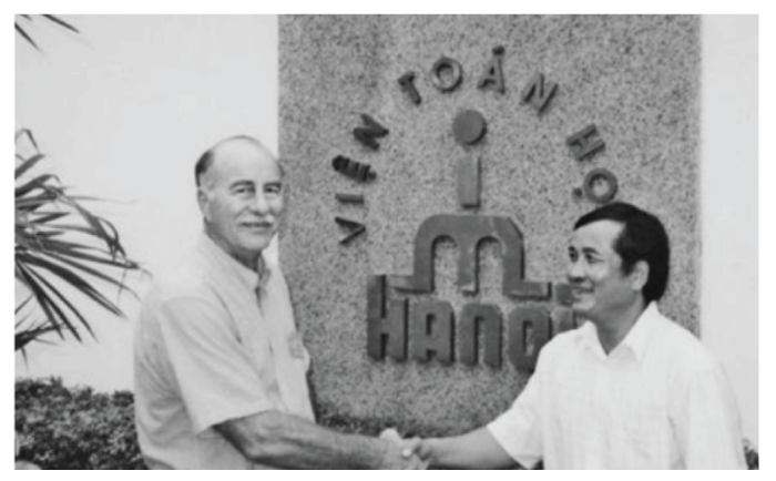 Ted Hill with mathematician Nguyen Van Thu at the University of Hanoi