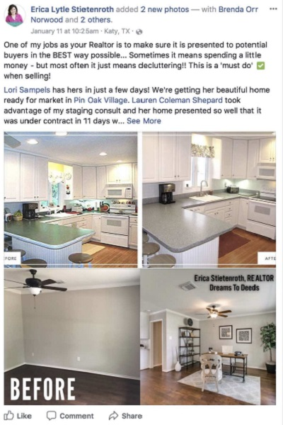 Realtor Facebook Post Example