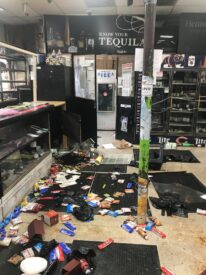 Salamy family store looted and destroyed by Black Lives Matter protestors on May 26, 2020. Photo courtesy of the Salamy family
