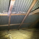 Rusting to roof sheets detected from roof space