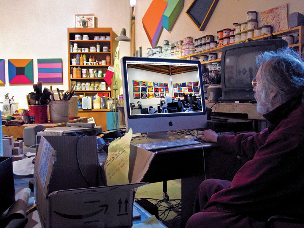 Ronald Davis in the studio, 2010