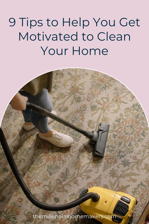 woman vacuuming an area rug