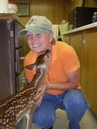 A baby deer at our wildlife sanctuary near San Antonio, TX