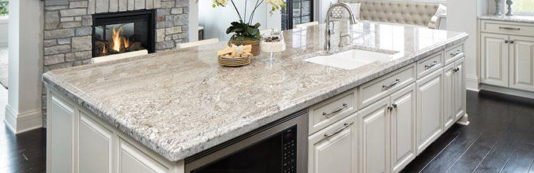 Light gray granite countertops.