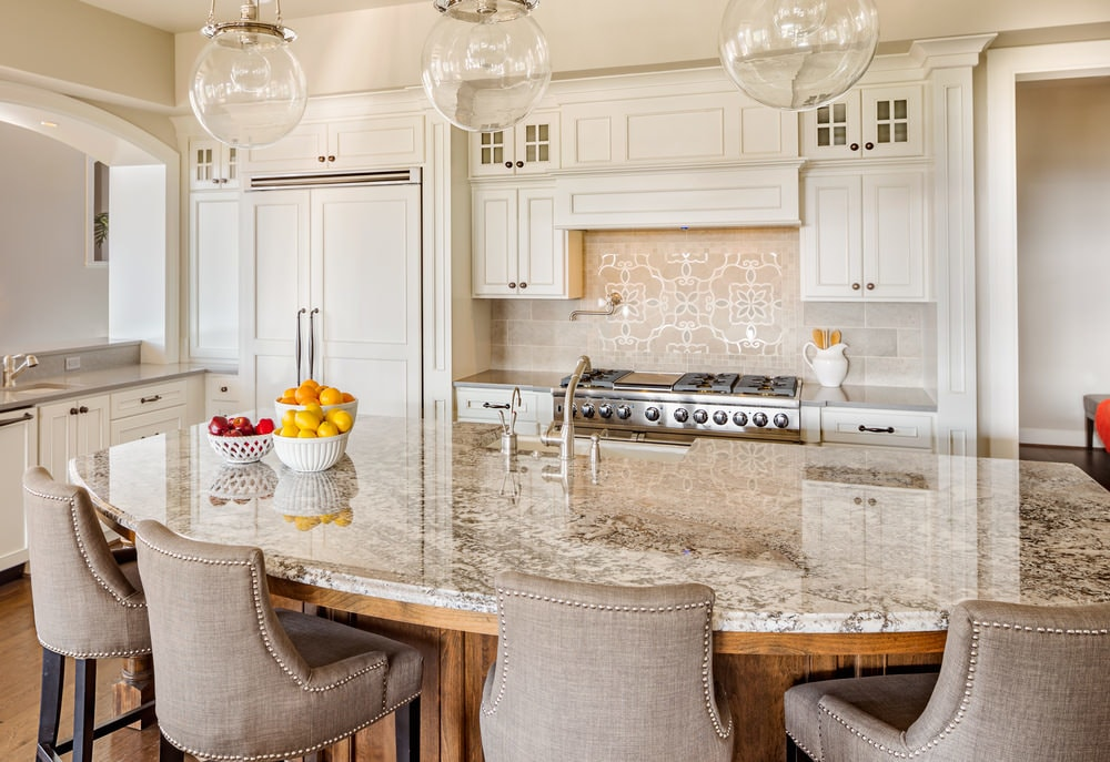 curved countertop