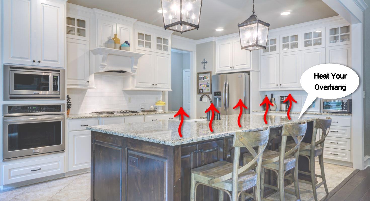 Granite Countertops: Heated Overhang