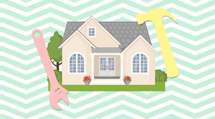 A cartoon home with a wrench and hammer.