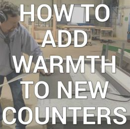 how to add warmth to new counters infographic