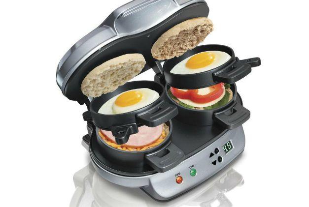stainless steel breakfast sandwich maker