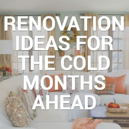 """info graphic reading """"renovation ideas for the cold months ahead"""""""