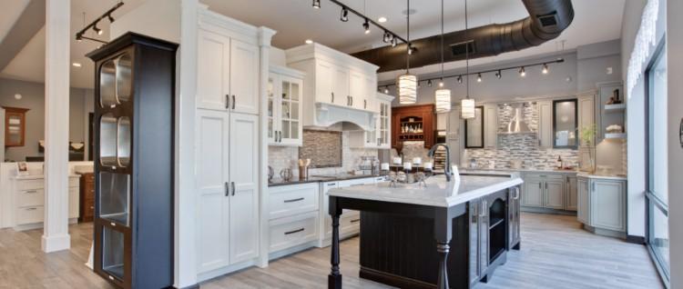 A luxury kitchen showroom.